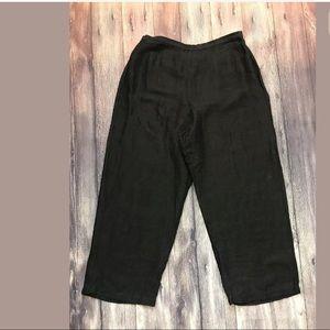 Eileen Fisher   Linen Blend Capris Cropped Pants